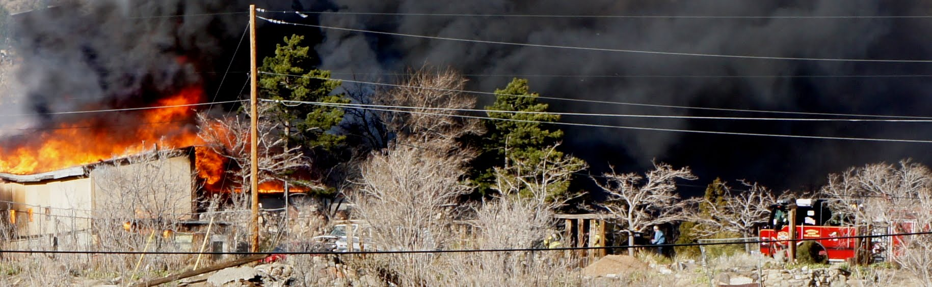 House fire at Carnuel, New Mexico on Wednesday, March 7, 2012 at ~ 16:30 MST