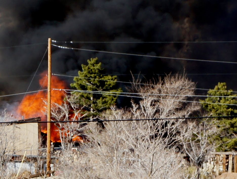 House fire at Carnuel, New Mexico, March 7, 2012 ~16:30 MST, image 2