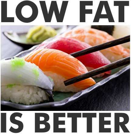 Low fat diets work better