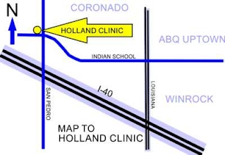 Map to Holland Clinic